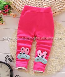 Hot sale!long style kids pants The small rabbit rabbit ears children leggings