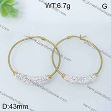 jewelry display antique brass disc and diamond pave earring drop earring jewelry