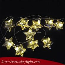 Colorful high quality led big star christmas light