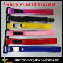 Velcro bracelet metal velcro wrist id sport