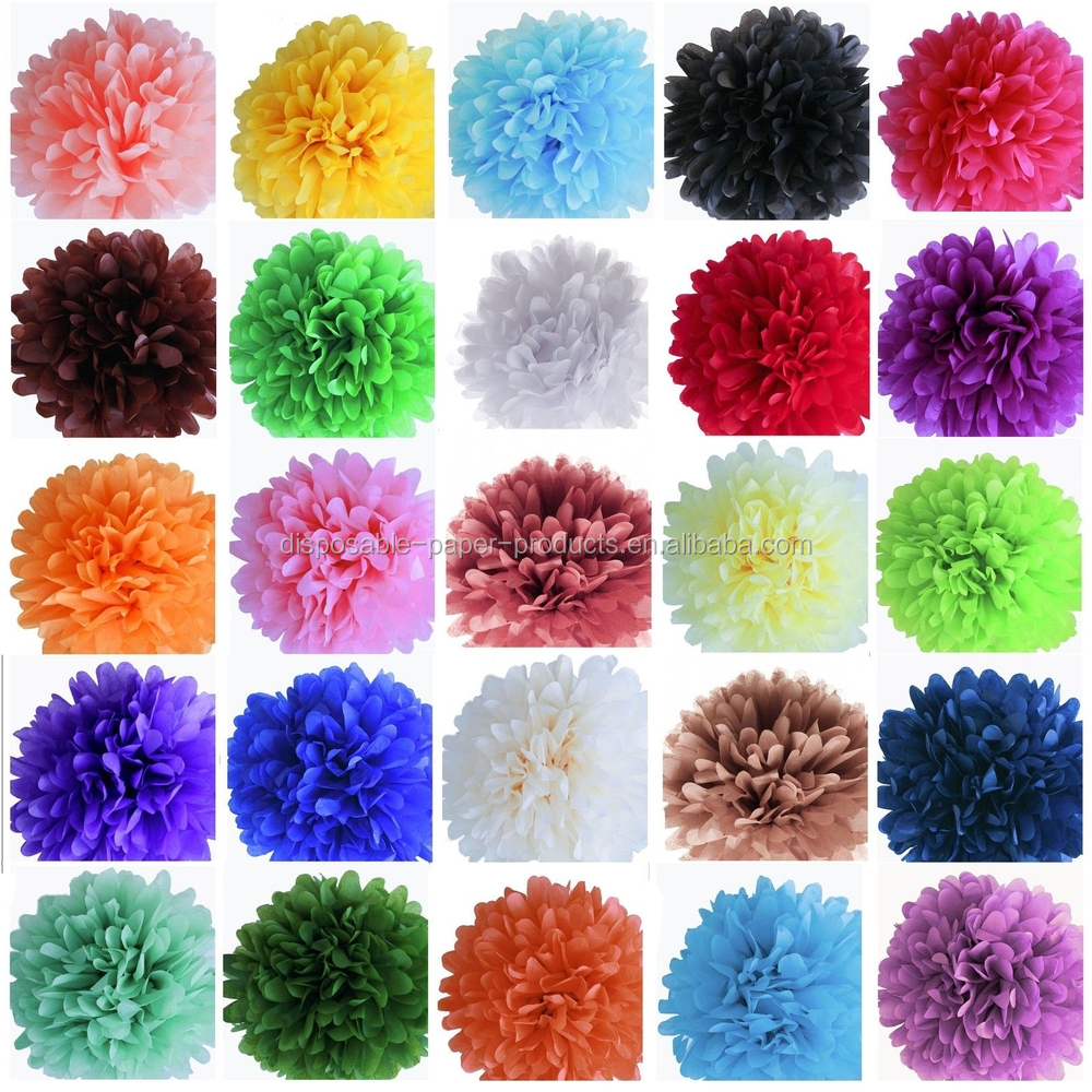 Yiwu Wholesale Wedding Party Hanging Silver Mini Tissue Paper Pom