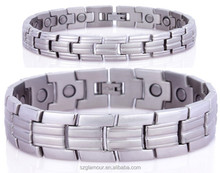 Attractive Design Fashion Jewelry Stainless Couple anti-static magnetic bracelet