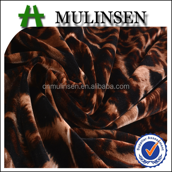 Mulinsen Textile Knitted Polyester Spandex Velvet Fabric, Competitive Price Fabric Velvet for Markets