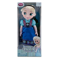"2014 lastest frozen elsa salon doll hot sale elsa and anna 16.5"" cartoon doll elsa doll 90degrees stand free shipping"