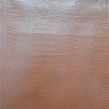 China cheap pvc leather stocklot, crocodile grain pvc artificial leather B grade stocklot for sofa