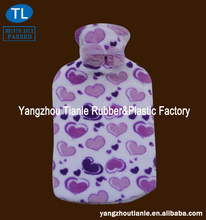 Medical hot water bottle with fleece cover quality
