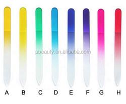 Wholesale korean glass nail file, custom printed nail file,personalized wholesale glass nail files