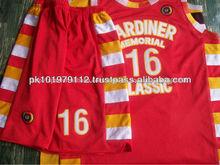 100% poliéster seca rápido ajuste los uniformes del baloncesto/juvenil de alta calidad uniformes del baloncesto personalizado