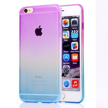 Mobile Accessories Transparent TPU Gradual Changed Color Changing Case Cover For iPhone 6 TPU Case