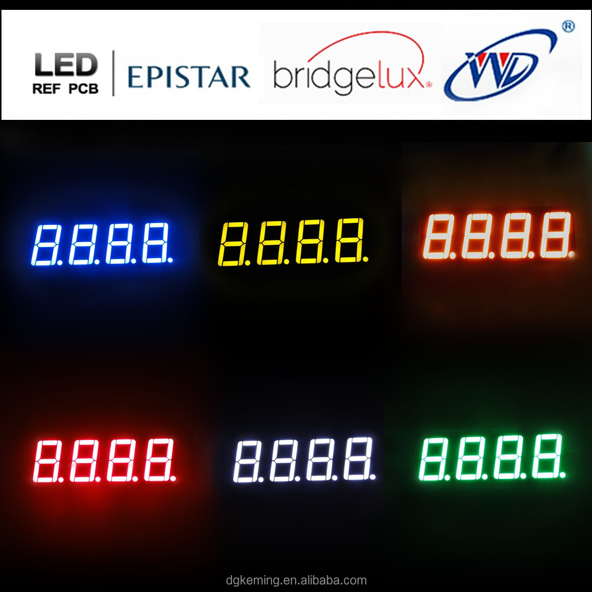 Ultra red led 4 digits 7 segment led display 5643 asur time point