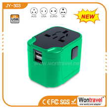 JY-303 Elegant universal travel adapter with usb mobile phones accessories