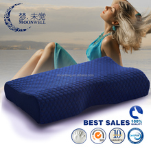 B shape classic soft standard luxury comfortable washable breathable memory foam adult pillow size 54*36*12/8cm