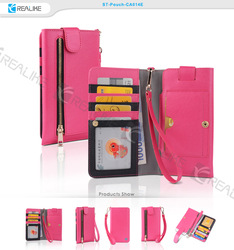 2014 funny mobile phone products leather purse case for samsung galaxy s4