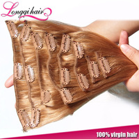 straight Brazillian remy clip in hair extension for black women
