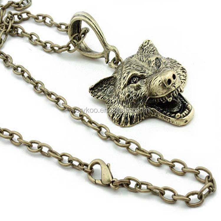 Lobo cabeza colgante significado, lobo de plata colgante de collar ...
