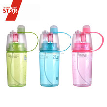 Winningstar hot sale portable plastic sport spray water bottle with straw