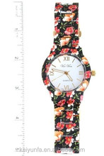 High Quality Geneva Japan Movt Quartz Watch Floral Trend Fashion Watch