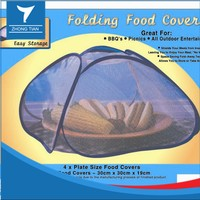 Folded Nylon mesh food cover Umbrella food cover