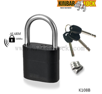 Best selling anti theft alarm padlock for door gate container use
