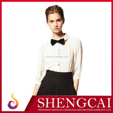 2013 New Best Selling Women Shirt With Bow Tie