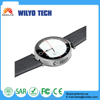 2015 New Arrival round touch screen lcd Single Sim Titanium Own Brand Watch