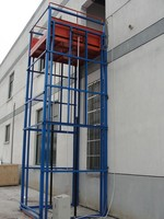 Guide rail hydraulic goods lift for sale