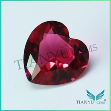 Free sample pale red heart glass gems loose glass stone for jewelry decoration