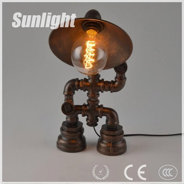 Steampunk Lamp Robot Lamp Pipe Lighting Table Lamp Edison