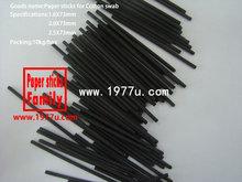 Fabrik direktverkauf, 2.5x73mm schwarz wattestäbchen papier-sticks, farbiges papier sticks für wattestäbchen