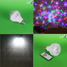 Rotating Strobe 8W LED Crystal Stage Light for Disco Party Club