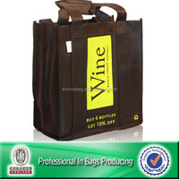 Lead Free Non Woven Custom Bulk Reusable Wine Tote Bags