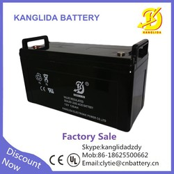 Kanglida high performance 12v 120ah battery solar, acid 12v battery 120 ah