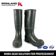 Waterproof black rain boots wholesale durable quality rubber rain boot