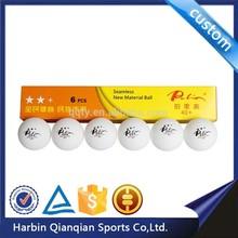 Cheap Palio seamless 5 star table tennis ball with logo printing