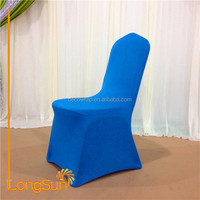 Blue wedding decoration round back chair cover