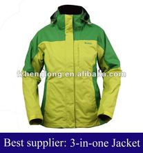 Ladies 3-in-1 jacket &ladies fashion winter garment
