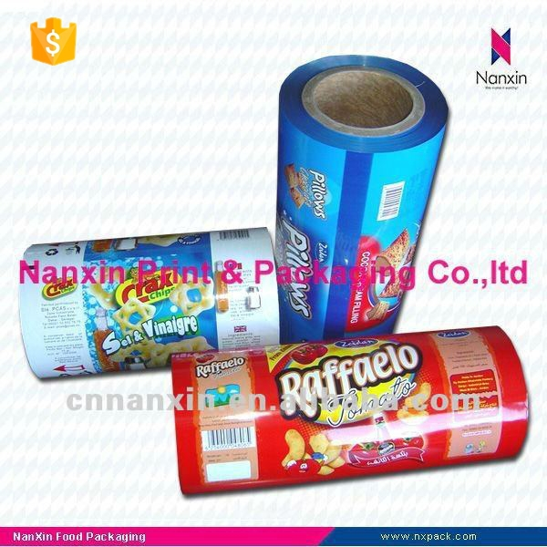 laminated plastic roll film for food packaging