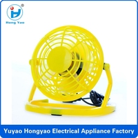 Colorful 4 inch 360 degrees MINI electrical standing cooling usb fan,usb fan supplier,usb fan manufactory CE RoHS FCC HY-816