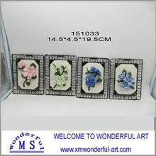 hot sale fashional ceramic flower wall decor
