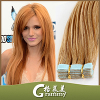 india human yaki skin tape weft hair extension with factory price
