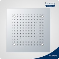Factory direct square SUS304 shower head with on/off switch