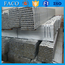 Tianjin gi square rectangular pipe ! hdg square hollow section price outdoor construction galvanized steel pipe