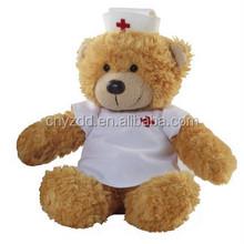 Plush nurse bear toy/handmade stuffed plush toy bear/doctor plush bear toy