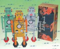 metal craft / wind up tin robot / tin toys for collection