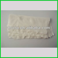Printed white suede microfiber eye glasses cleaning cloth
