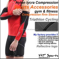 Flatlock stitching professional spandex nylon Compression arm sleeve