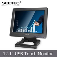 SEETEC 12.1 inch large lcd computer monitors with USB input for extension display
