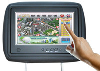 9 inch 3G wifi wireless network taxi headrest LCD advertising monitor with capacitive touch screen