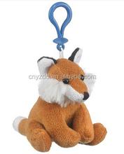 cheap fox plush keychain/wholesale fox keychains/stuffed cute plush fox keychain