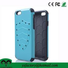 New arrivals tpu&pc 2 in 1 detachable U sheild mobile phone case for i phone6